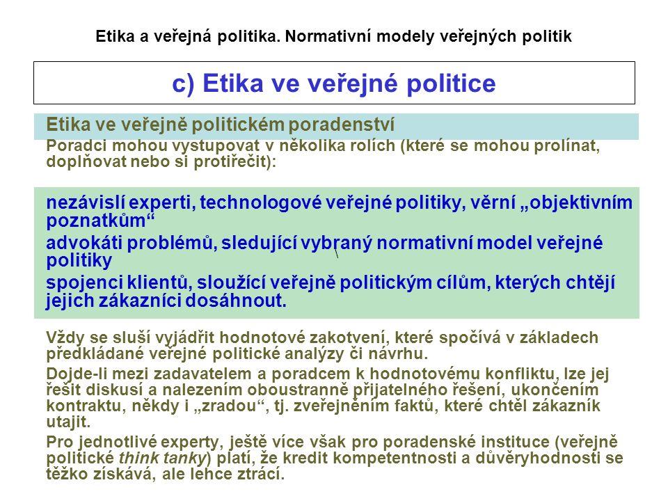 \ Etika a veřejná politika.