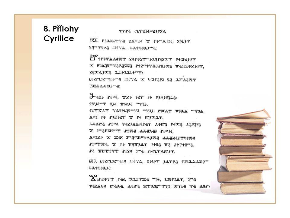 8. Přílohy Cyrilice