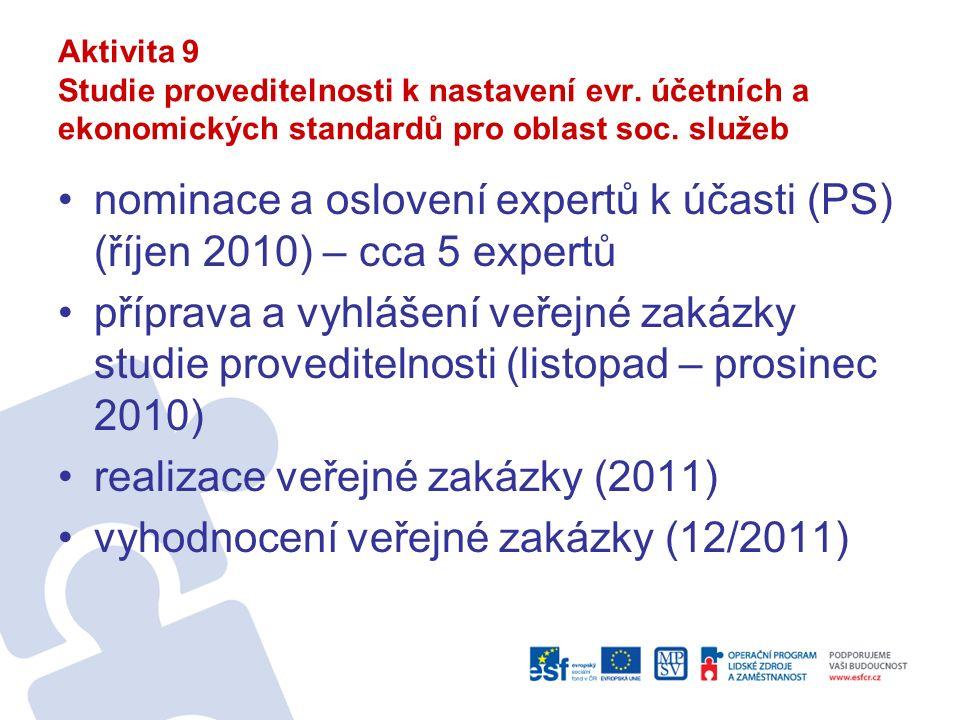 Aktivita 9 Studie proveditelnosti k nastavení evr.