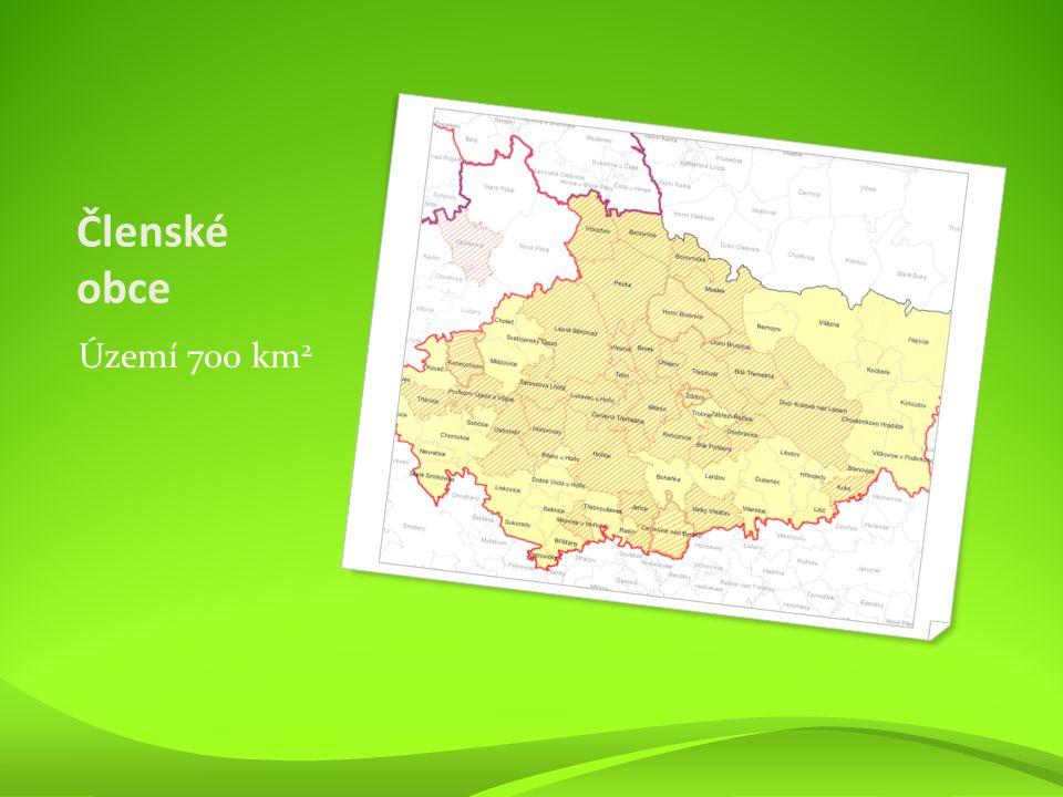 Členské obce Území 700 km 2