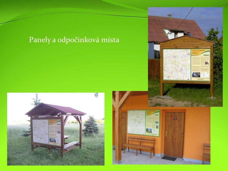 Panely a odpočinková místa