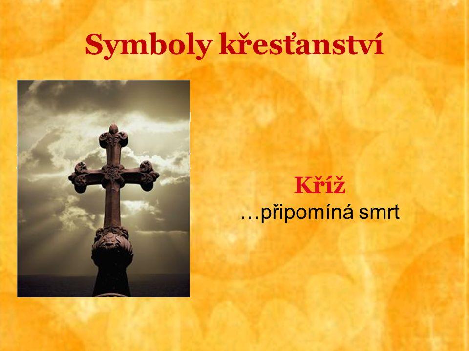 Kříž …připomíná smrt Symboly křesťanství