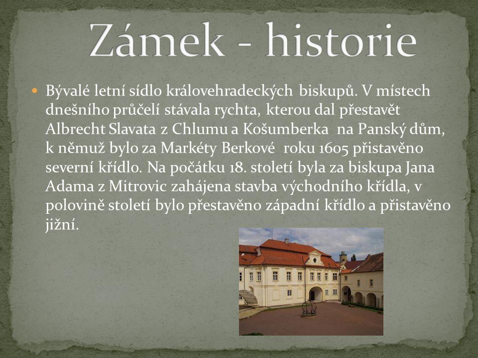 Bývalé letní sídlo královehradeckých biskupů.