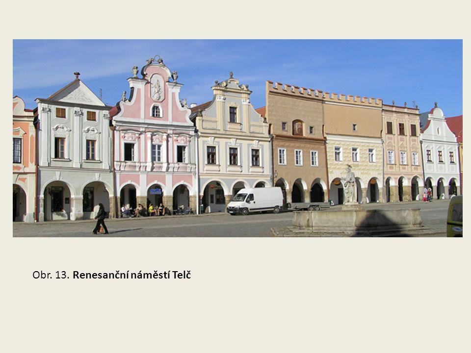 Obr. 13. Renesanční náměstí Telč