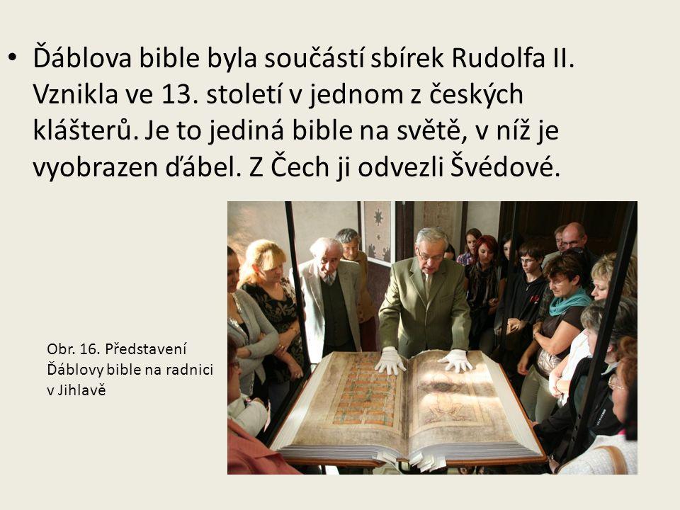 Ďáblova bible byla součástí sbírek Rudolfa II. Vznikla ve 13.