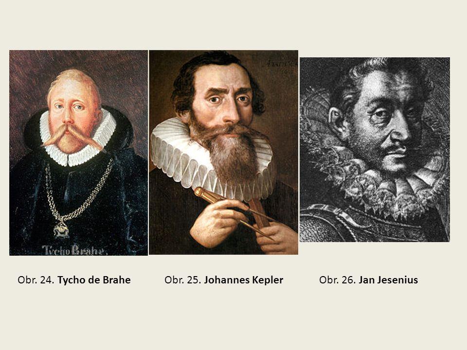 Obr. 24. Tycho de BraheObr. 25. Johannes KeplerObr. 26. Jan Jesenius