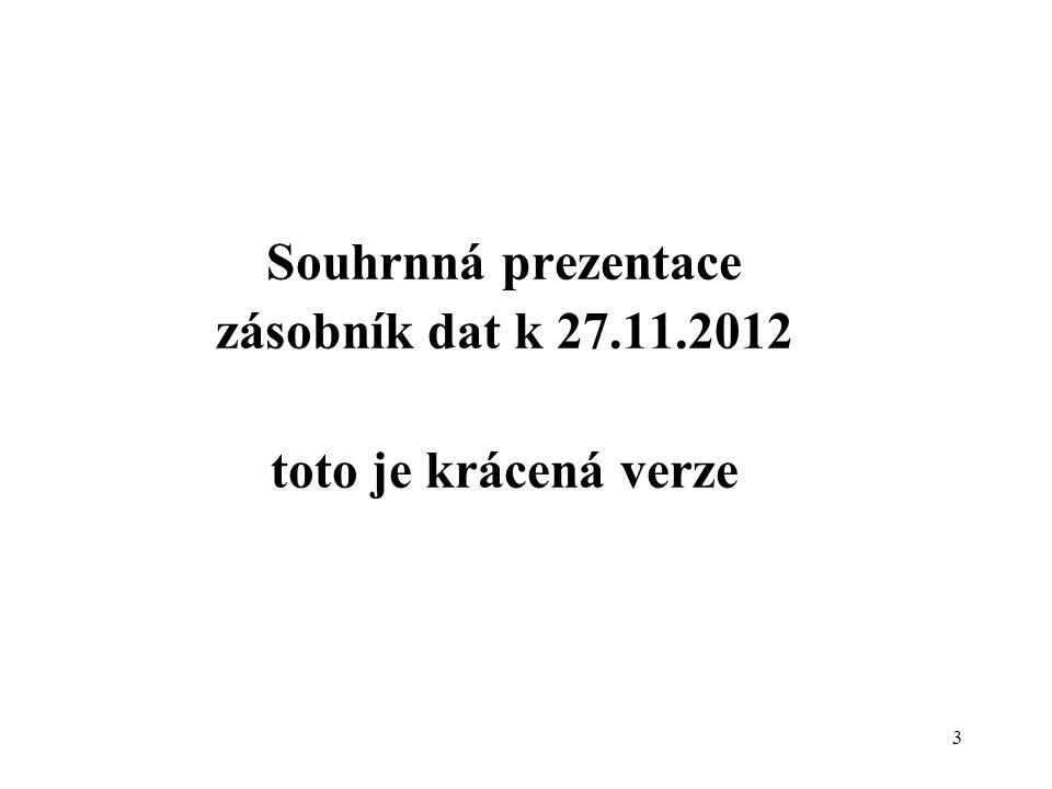 4 Dotazník SVSE - stav k 30.9.2012 11.ročník, poprvé v r.