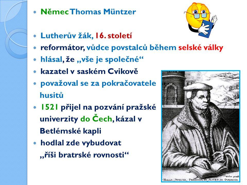 Němec Thomas Müntzer Lutherův žák, 16.