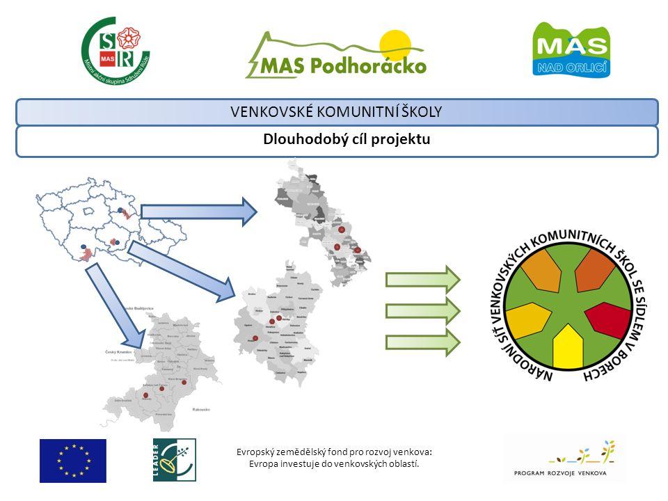 Evropský zemědělský fond pro rozvoj venkova: Evropa investuje do venkovských oblastí. Dlouhodobý cíl projektu VENKOVSKÉ KOMUNITNÍ ŠKOLY