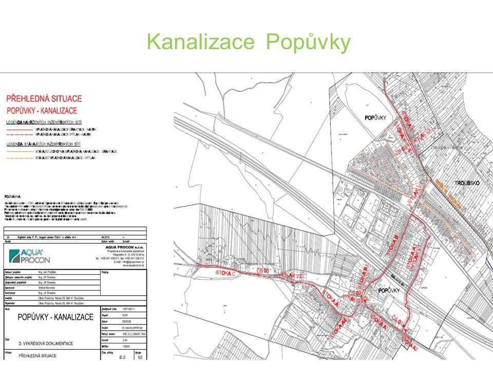 Valná hromada Svazku vodovodů a kanalizací Ivančice 4.12.2012 Kanalizace Popůvky