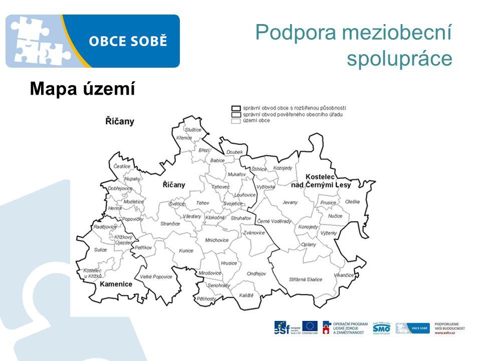Podpora meziobecní spolupráce Mapa území