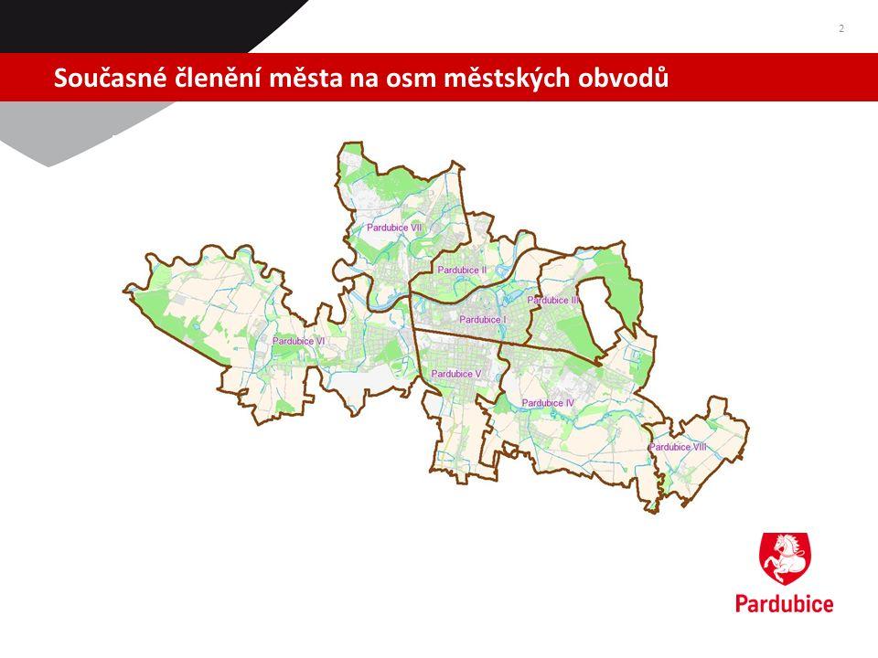 Počty zaměstnanců jednotlivých městských obvodů 3 Městský obvod k 31.12.2011 (vč.