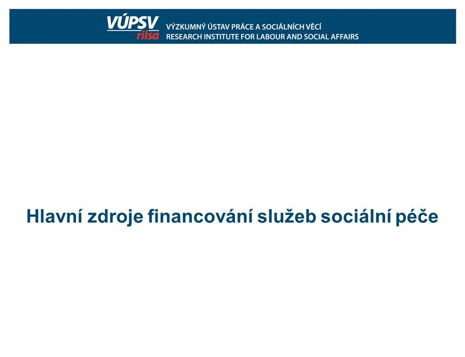Hlavní zdroje financování služeb sociální péče