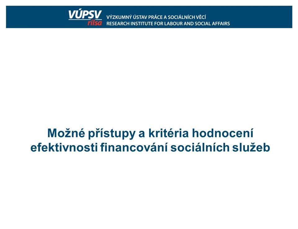 co ovlivňuje efektivnost financování sociálních služeb.