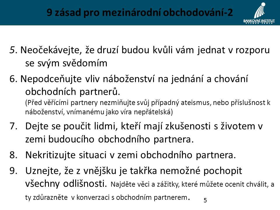 9 zásad pro mezinárodní obchodování-2 5.