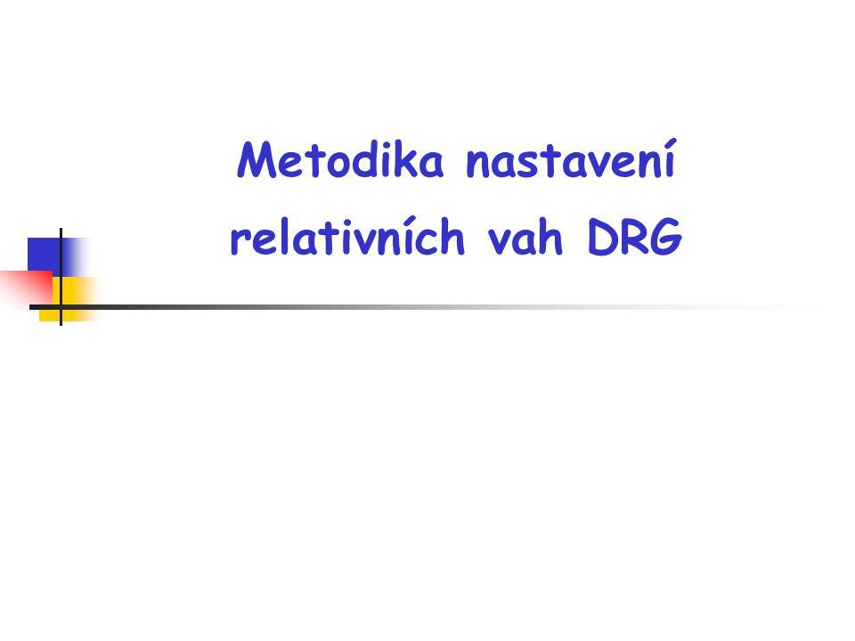 Metodika nastavení relativních vah DRG