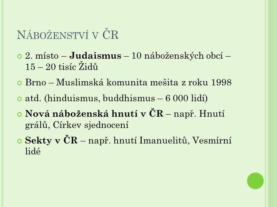 N ÁBOŽENSTVÍ V ČR 2.