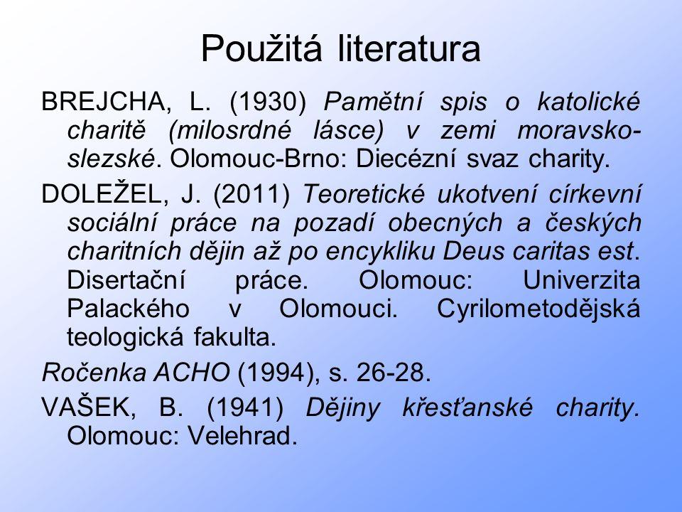 Použitá literatura BREJCHA, L.