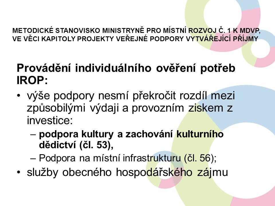 METODICKÉ STANOVISKO MINISTRYNĚ PRO MÍSTNÍ ROZVOJ Č.
