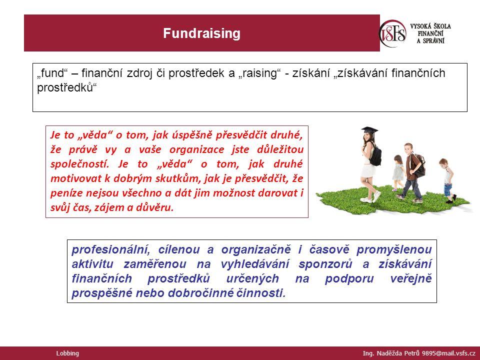 Fundraising Lobbing Ing.