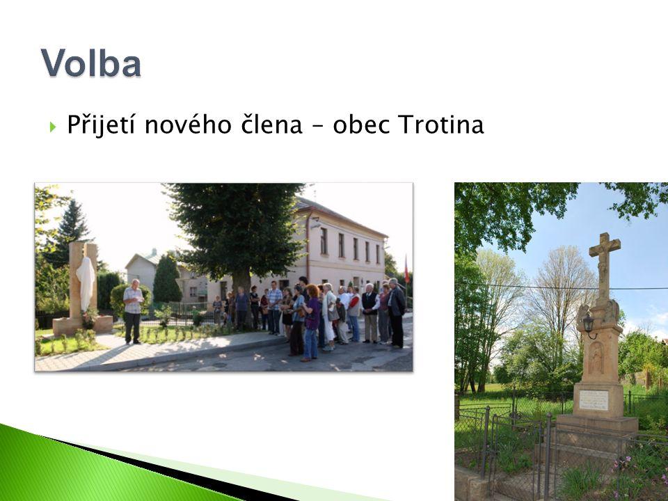  Přijetí nového člena – obec Trotina