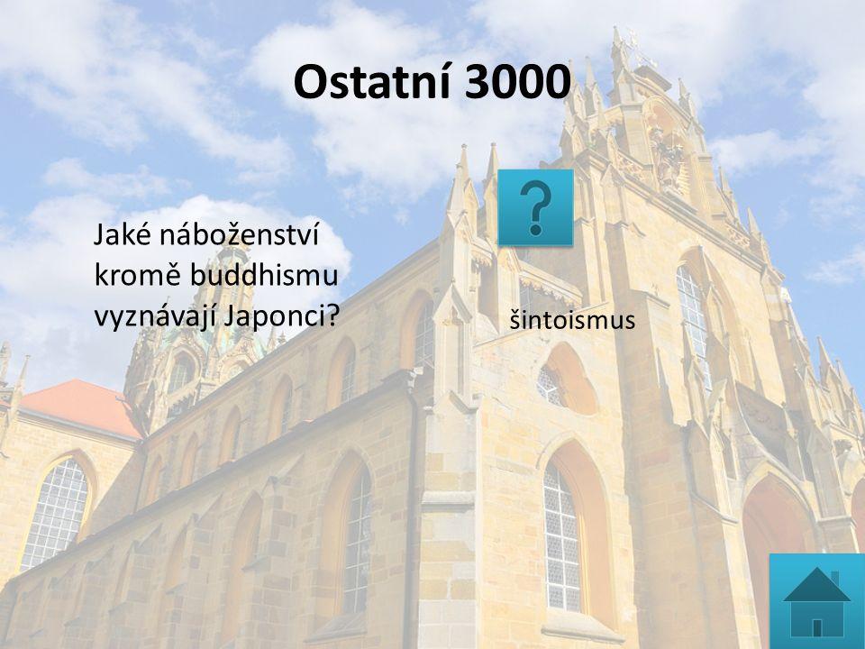 Ostatní 3000 šintoismus Jaké náboženství kromě buddhismu vyznávají Japonci