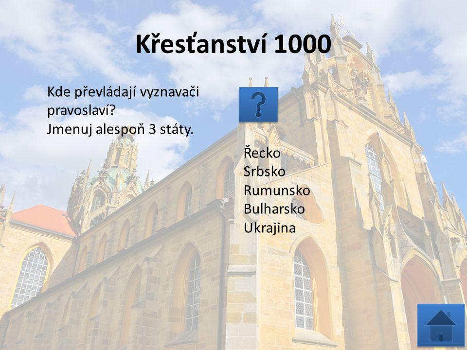 Křesťanství 2000 Jak se nazývá církevní rozkol, který nastal v 11.