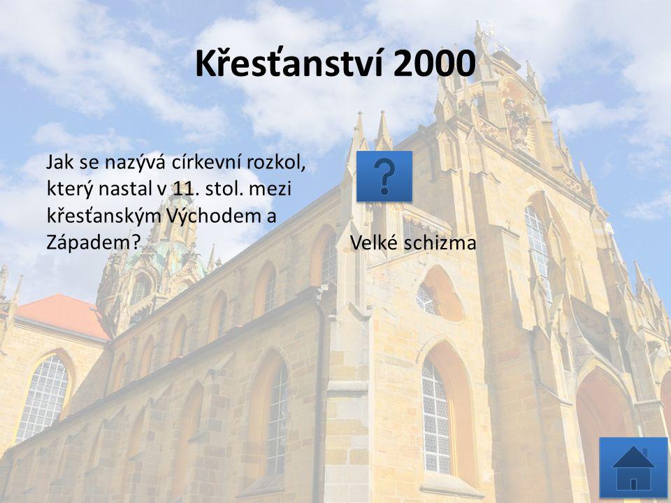 Křesťanství 3000 Jmenuj 4 křesťanská poutní místa Evropy.