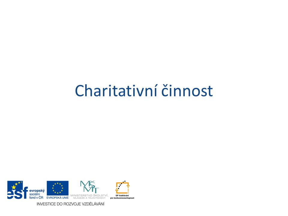 Charitativní činnost