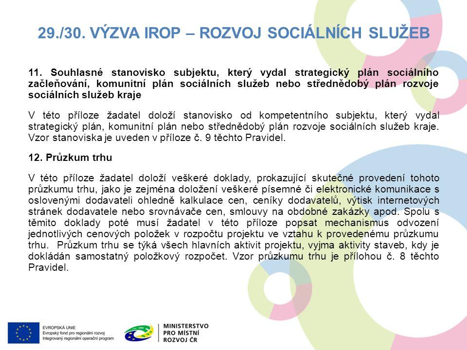 11. Souhlasné stanovisko subjektu, který vydal strategický plán sociálního začleňování, komunitní plán sociálních služeb nebo střednědobý plán rozvoje