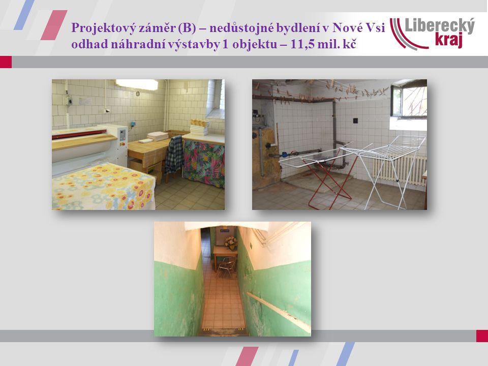 Projektový záměr (B) – nedůstojné bydlení v Nové Vsi odhad náhradní výstavby 1 objektu – 11,5 mil. kč