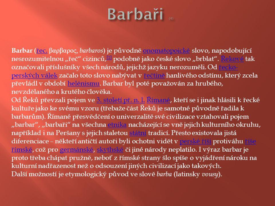 Barbar (řec.
