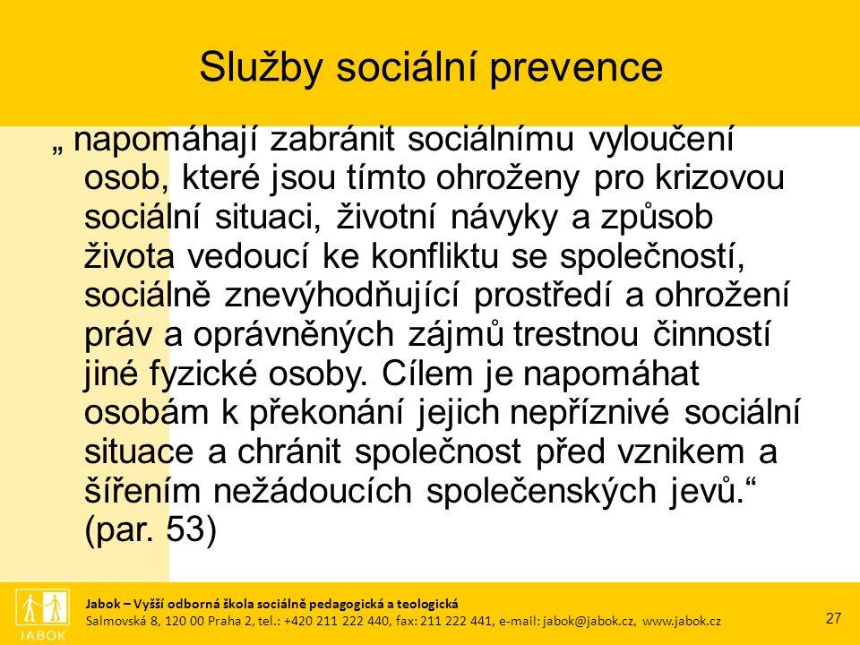 Raná péče Tlumočnické služby Sociálně aktivizační služby Sociálně terapeutické dílny Služby sociální prevence pro osoby s mentálním postižením