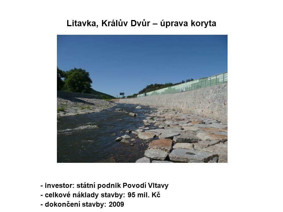- investor: státní podnik Povodí Vltavy - celkové náklady stavby: 95 mil.