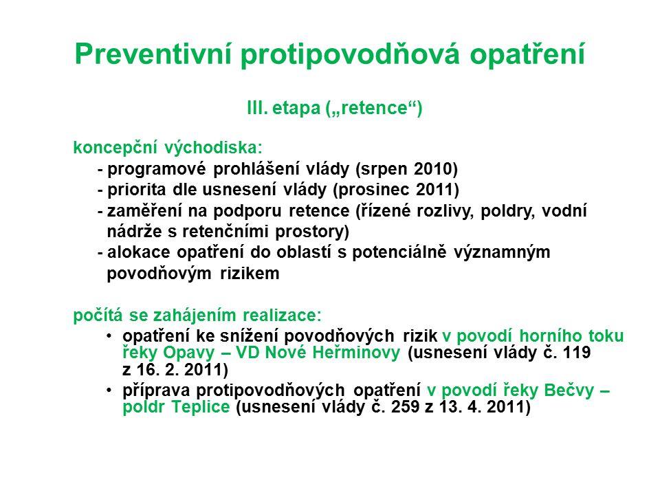 Preventivní protipovodňová opatření III.
