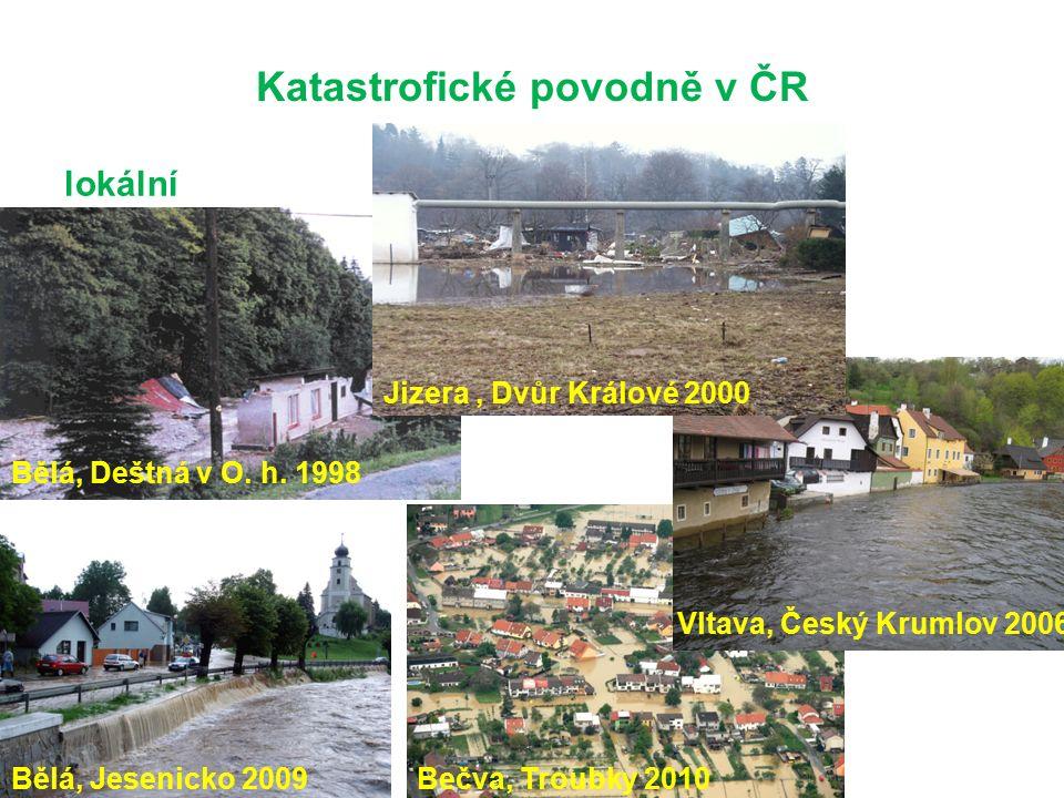 Katastrofické povodně v ČR lokální Bělá, Deštná v O.