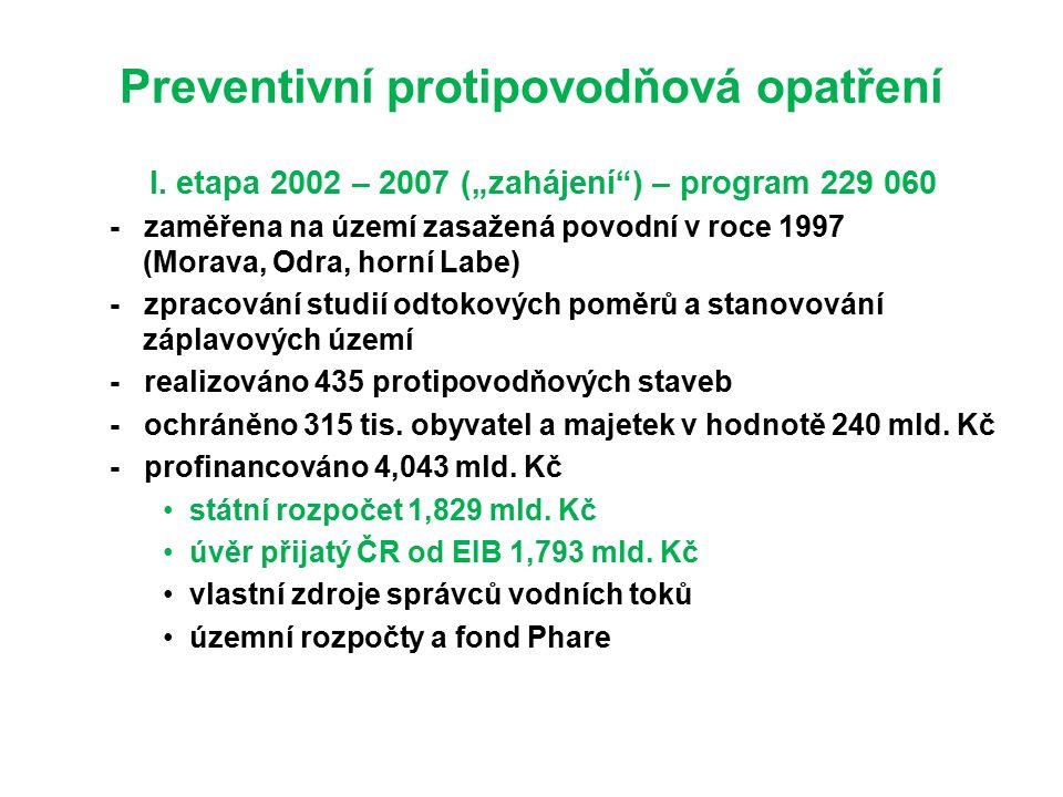 Preventivní protipovodňová opatření I.