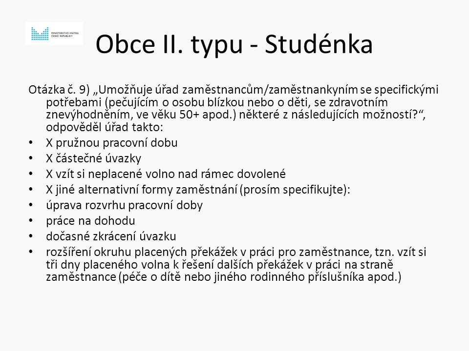 Obce II. typu - Studénka Otázka č.