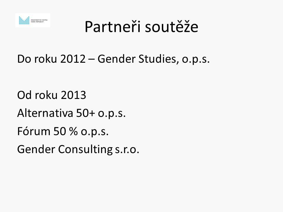 Partneři soutěže Do roku 2012 – Gender Studies, o.p.s.
