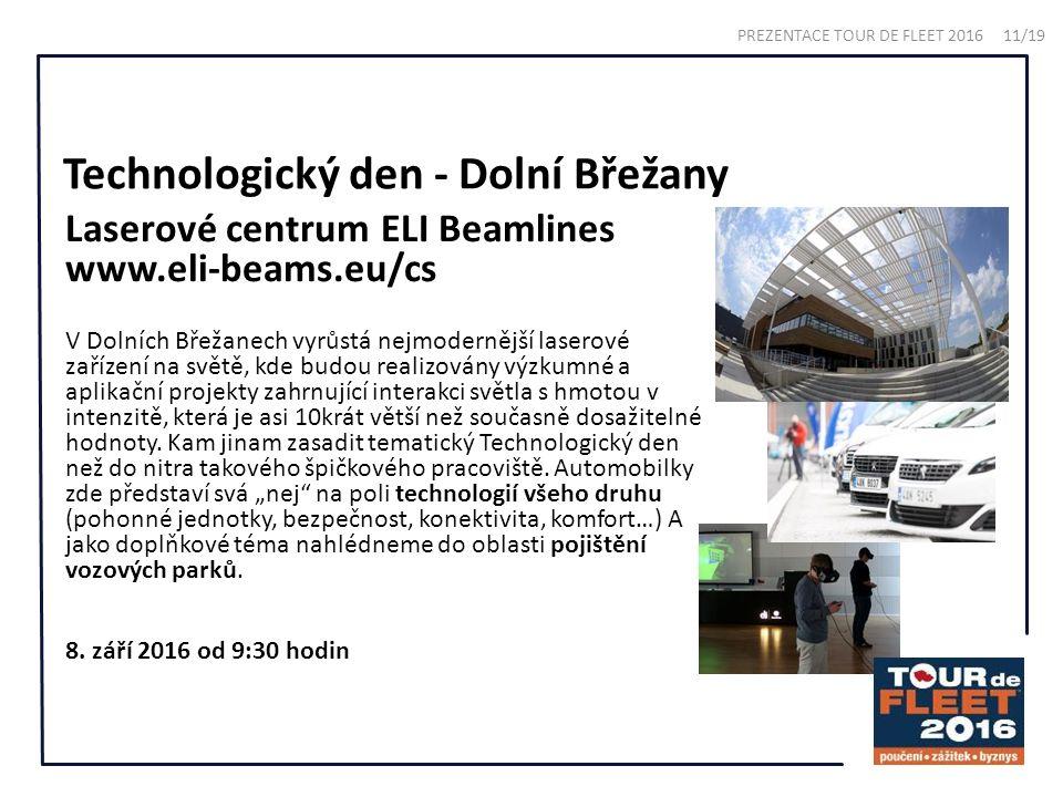 Laserové centrum ELI Beamlines www.eli-beams.eu/cs V Dolních Břežanech vyrůstá nejmodernější laserové zařízení na světě, kde budou realizovány výzkumné a aplikační projekty zahrnující interakci světla s hmotou v intenzitě, která je asi 10krát větší než současně dosažitelné hodnoty.