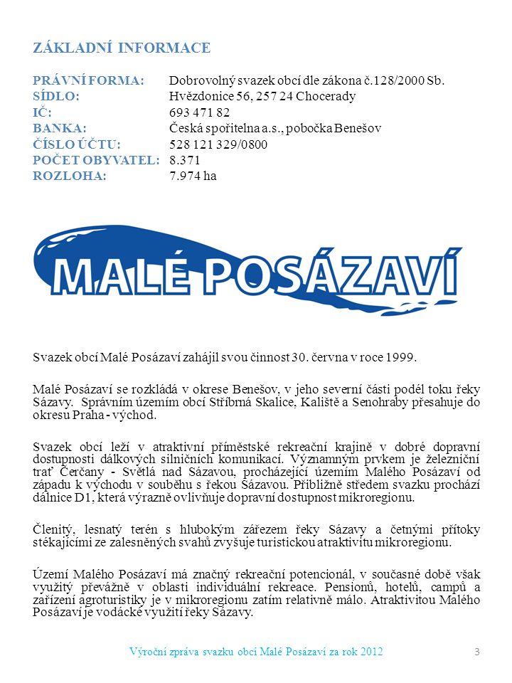 ZÁKLADNÍ INFORMACE PRÁVNÍ FORMA:Dobrovolný svazek obcí dle zákona č.128/2000 Sb.