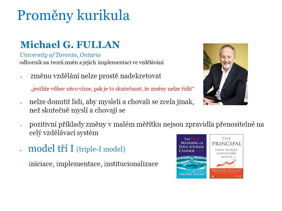 Proměny kurikula Michael G.