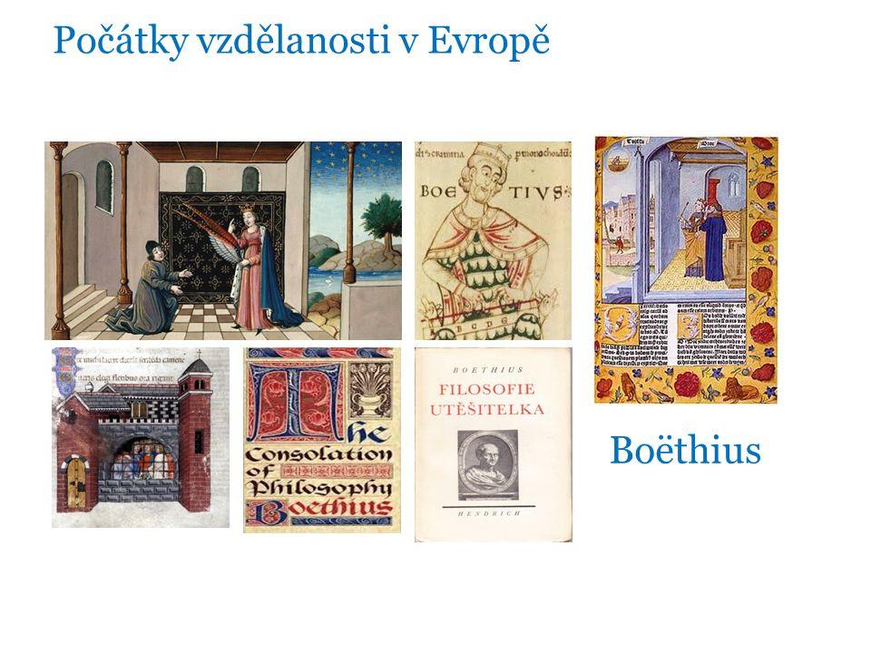 Počátky vzdělanosti v Evropě Boëthius