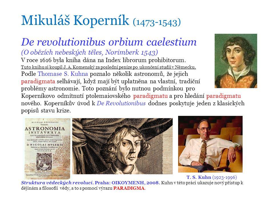 De revolutionibus orbium caelestium (O obězích nebeských těles, Norimberk 1543) V roce 1616 byla kniha dána na Index librorum prohibitorum.