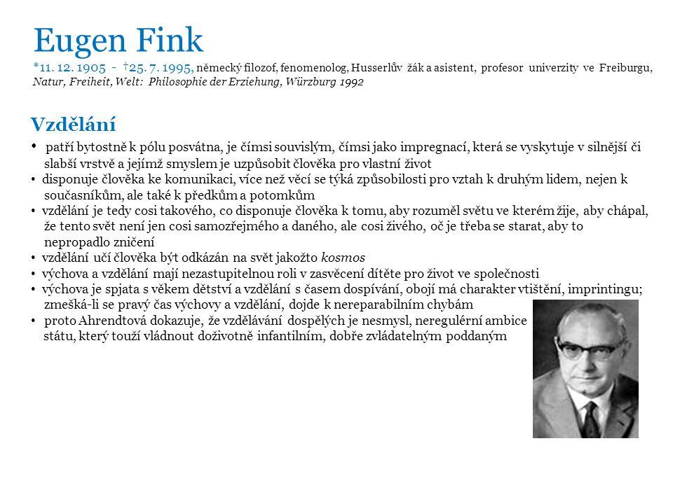 Eugen Fink * 11. 12. 1905 - †25. 7.