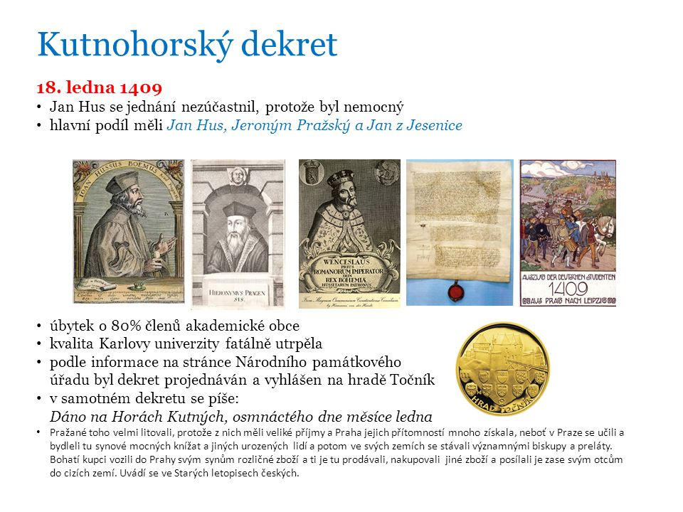 Kutnohorský dekret 18.