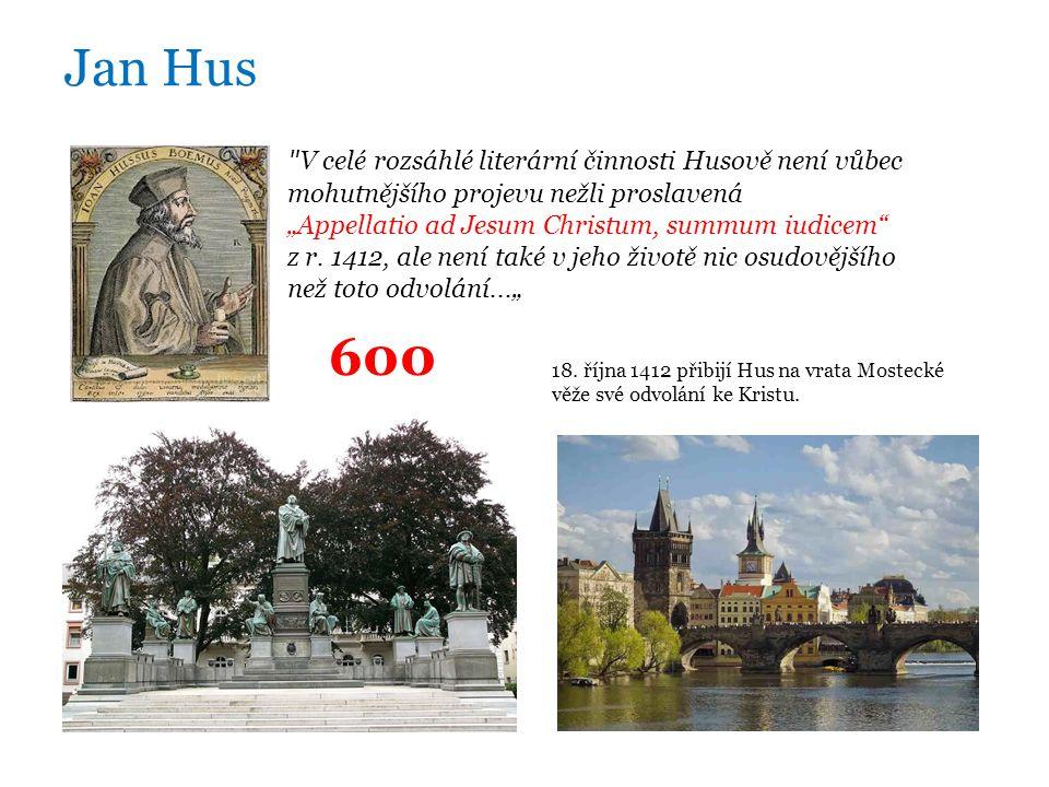 """Jan Hus V celé rozsáhlé literární činnosti Husově není vůbec mohutnějšího projevu nežli proslavená """"Appellatio ad Jesum Christum, summum iudicem z r."""