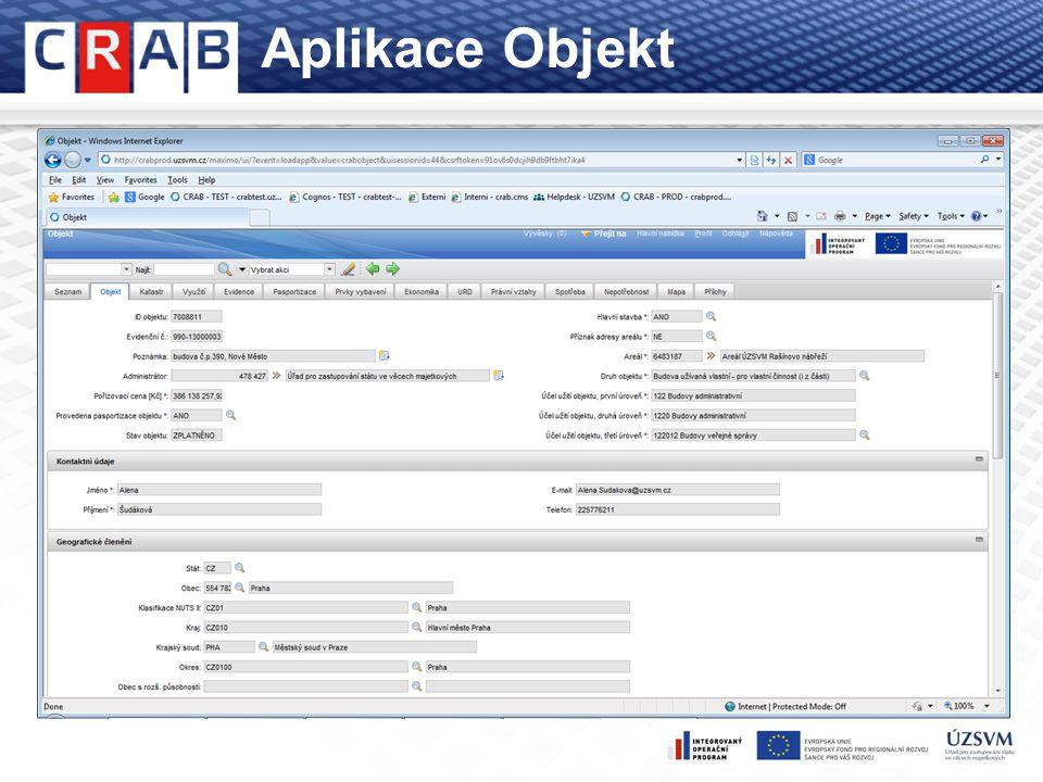 Formy reportingu Online reporty produkční data, stav ke dni generování reportu 14 předpřipravených reportů dle zadání ÚZSVM možnost porovnání věcně souvisejících hodnot pomocí vhodných filtrů hodnoty jsou (kromě výjimek) ovlivněny přístupovými právy uživatele Reporty analytického modulu čtvrtletně odlévaná data - obraz CRAB pro reporting použita vybraná data, podmnožina dat CRAB v podobě dimenzí a faktů data za jednotlivé roky/čtvrtletí => možnost sledování trendů a meziročních srovnání 21 předpřipravených reportů a desítky grafů dle zadání ÚZSVM možnost porovnání věcně souvisejících hodnot pomocí vhodných filtrů hodnoty jsou (kromě výjimek) ovlivněny přístupovými právy uživatele