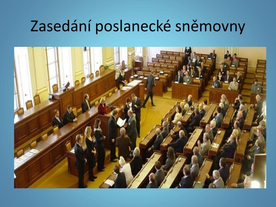 Zasedání poslanecké sněmovny