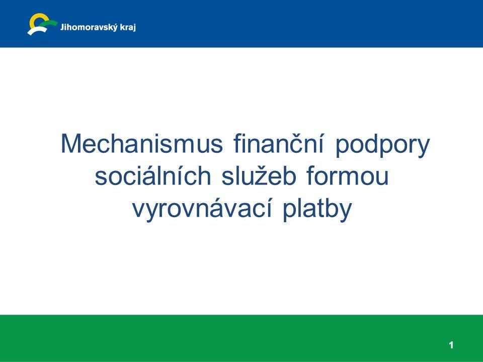 Mechanismus finanční podpory sociálních služeb formou vyrovnávací platby 1